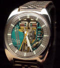 Stainless Accutron Spaceview Cushion 214 Repaired