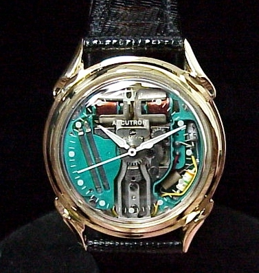 Vintage Bulova Accutron Spaceview Watch with Spiral Lugs