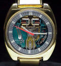 Gold Filled 214 Accutron Spaceview Cushion Case Repaired